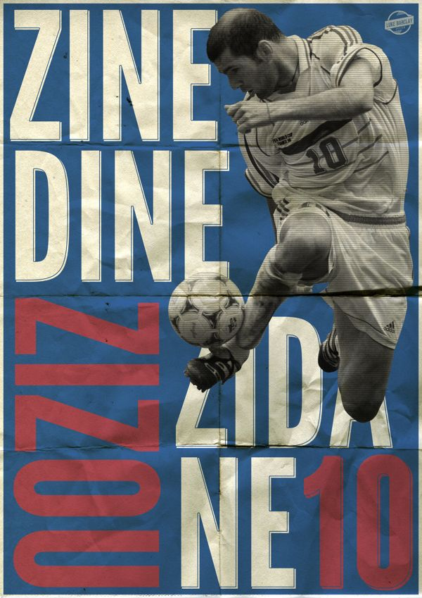 Zinedine Zidane Poster by Luke Barclay, via Behance