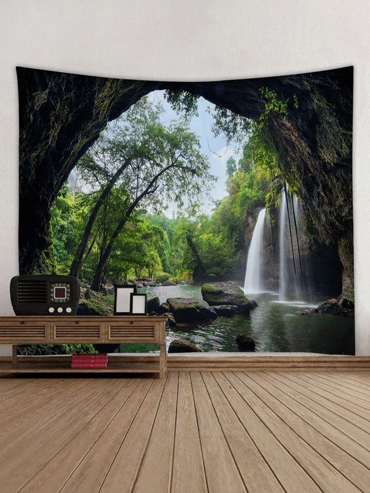 Pin by Cosmo Condo on Office Waterfall scenery, Forest