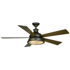 $169 Marlton 52 in. Oil-Rubbed Bronze Ceiling Fan-YG305-ORB at The Home Depot  Uses (3) 40W candelabra bulbs,