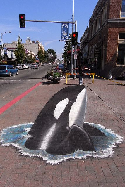 3d chalk pavement art