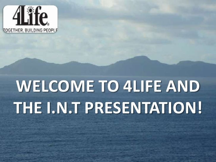 4 Life Powerpoint Presentation by Simon Walker via slideshare please see my link http://7690100.4life.com  to register as a 4life distrubtor