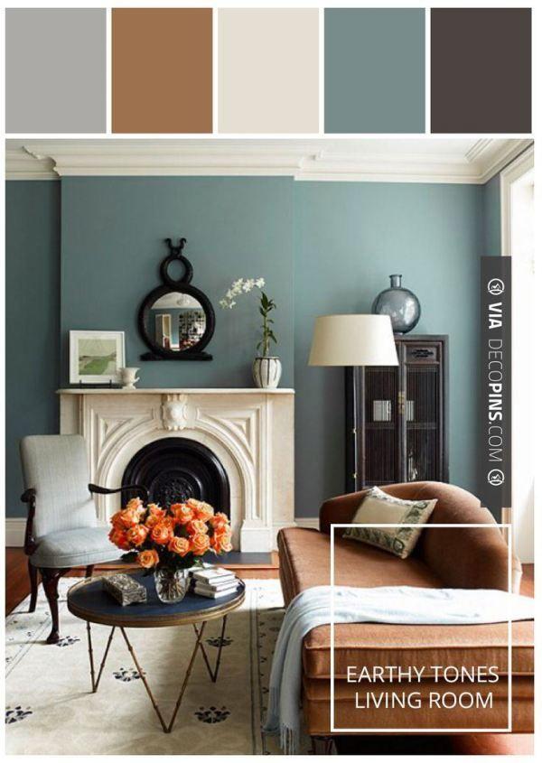 Paint Color Palettes Motivation Monday | Blue Green Living Room #paint # Color #stylyze Part 36