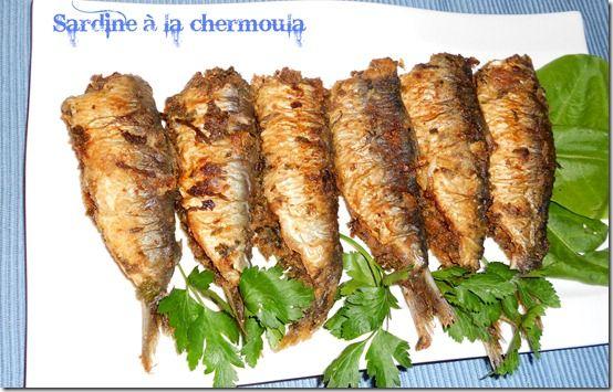 Sardines à la chermoula ( dersa ) La sardine évoque chez moi de beaux souvenirs: la mer , la méditerranée, ma mère préparant ce poisson avec lachermoula