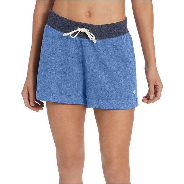 Champion French Terry Workout Shorts (625 NIO) ❤ liked on Polyvore featuring activewear, activewear shorts, champion activewear and champion sportswear