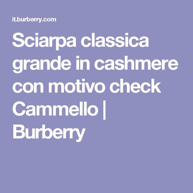 Sciarpa classica grande in cashmere con motivo check Cammello | Burberry