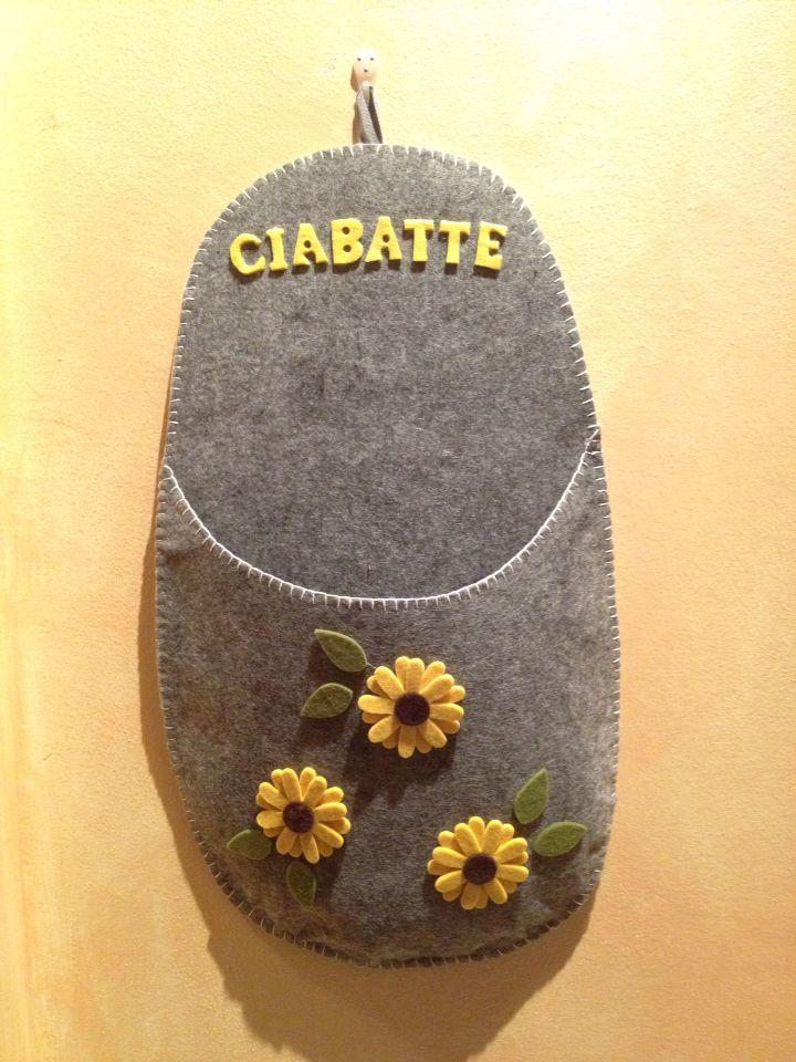 Ciabattone porta ciabatte in feltro miei lavori pinterest feltro - Porta cd fai da te ...
