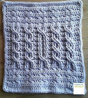 "Sharon G Cables - free crochet pattern by Sarit Grinberg. Part 4 of the ""Bilbe & Friends Blanket"" CAL 2016. Multiple languages."