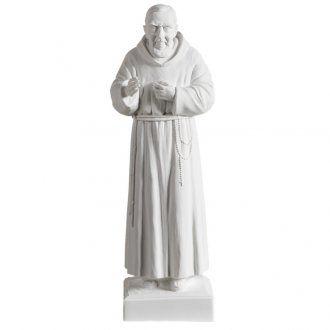 Padre pio marmo sintetico bianco 40 cm | vendita online su HOLYART