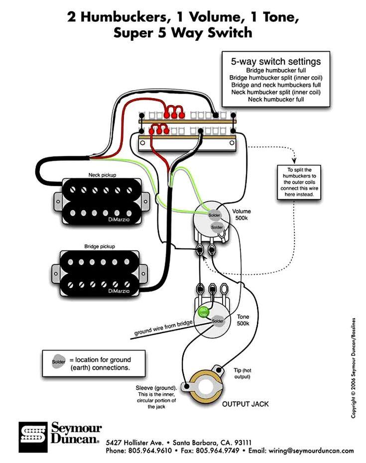 5 Way Super Switch With 2 Humbuckers Electric Guitar Guitar Guitar Pickups