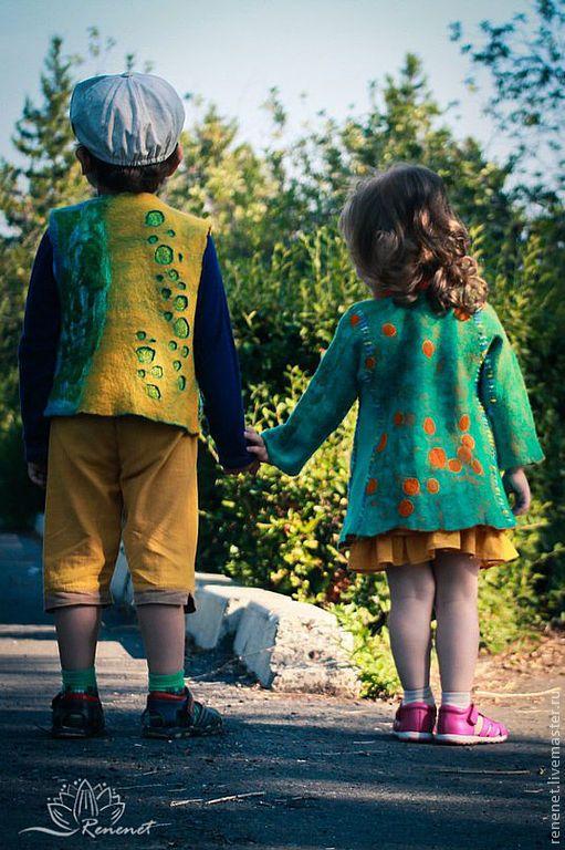 Одежда для девочек, ручной работы. Заказать Детское валяное пальто