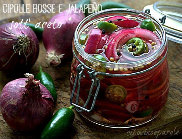 Cipolle rosse e jalapeño sott' aceto