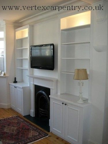 Alcove shelving wardrobes floating shelves bookcase | eBay