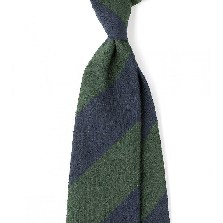 Untipped Woven Shantung 8cm Silk Tie - Shantung - Ties - Online Shop - Drakes London