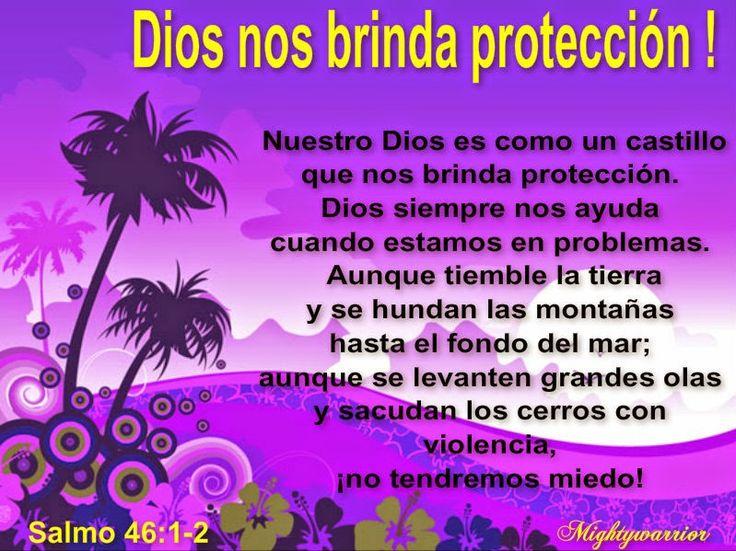 """JESUS PODEROSO GUERRERO: Salmo 46:1-2~~~"""" Dios nos brinda protección """""""