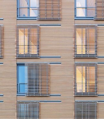 Simple elegant window screen facade timber pinterest glasses window and rain - The shutter clad house ...