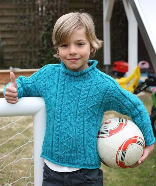 Child's Pullover with Textured Pattern, S8936 - Free Pattern