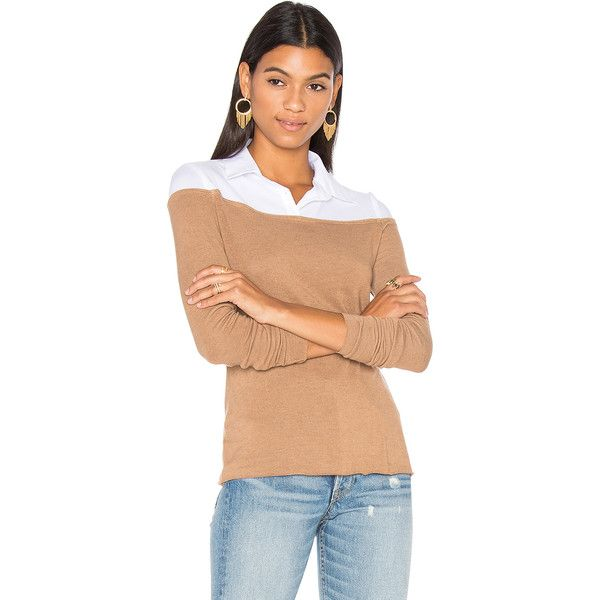 Bailey 44 Alicia Sweater Top ($120) ❤ liked on Polyvore featuring tops, sweaters, fashion tops, red sweater, bailey 44 tops, layered sweater, bailey 44 sweater and double layer top