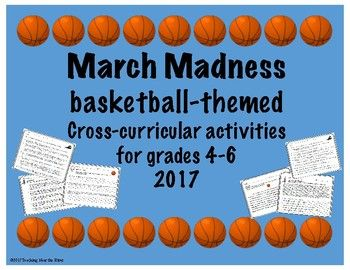 Basketball playoff season is here! The NCAA men's basketball tournament is ideal for challenging your students' abilities while learning about basketball. Included in this product is a short history of basketball with reading comprehension questions. Students will explore geography by finding the locations of the tournament sites, as well as distances from specific cities.