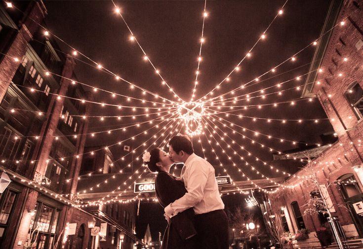 January Wedding in Toronto's historic Distillery District- The Westend Studio