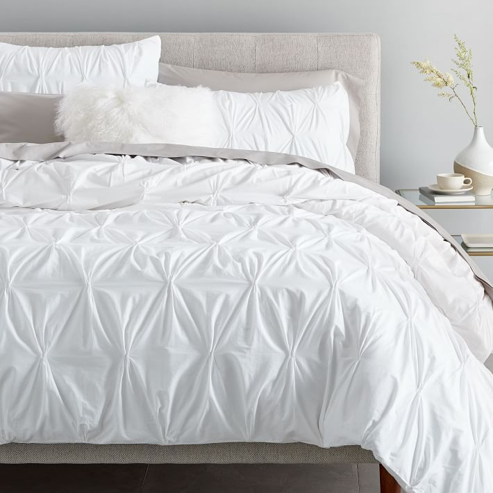 Organic Cotton Pintuck Duvet Cover Shams Pintuck Duvet Cover
