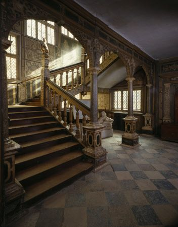 The Great Jacobean Staircase at Knole, Kent, England