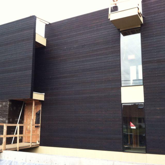 Cedar siding, Cedar cladding and Burnt wood on Pinterest