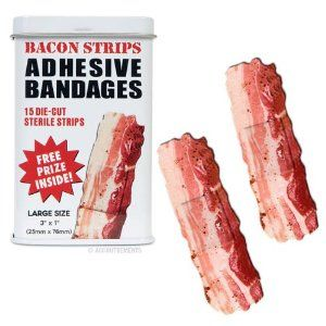 Now this is a marvelous idea.: Bacon Shapes, Bacon Bandaid, Bacon Strips, Baconbandaid, Bacon Bandage, Band Aid, Strips Bandage, Gifts Idea, Adh Bandage