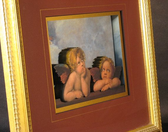 #Cherubs in the #Sistine framed in 3D by #CiracoFramers on our #Etsy site. #Classic #Art in a #unique way.