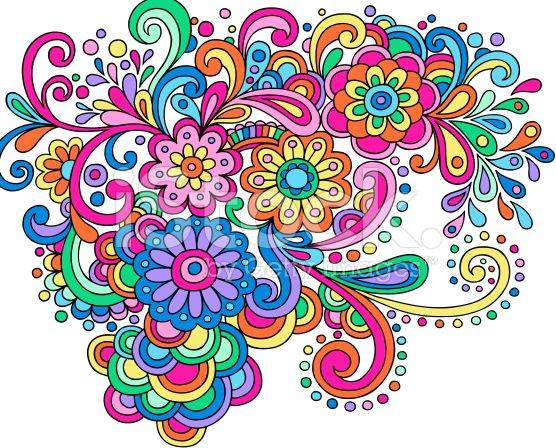 Groovy Psychedelic Abstract Paisley Doodle stock vector art ...