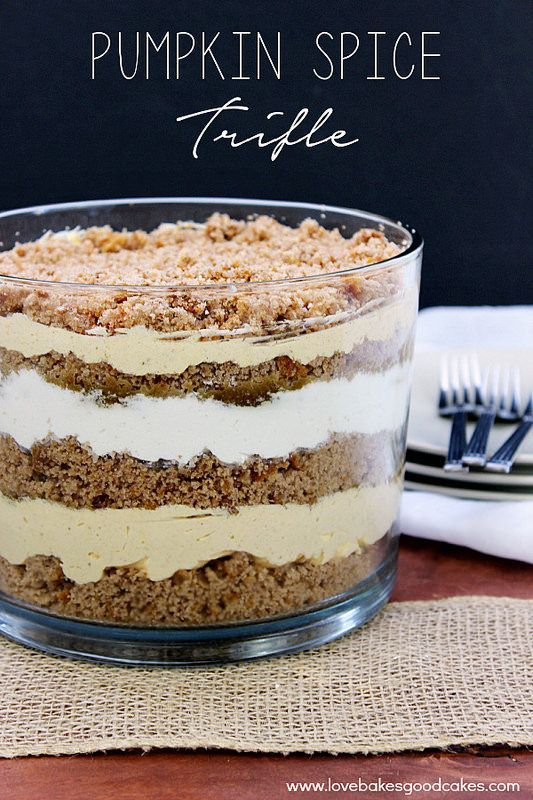 Did someone say Pumpkin Spice... in a trifle? Yes please!