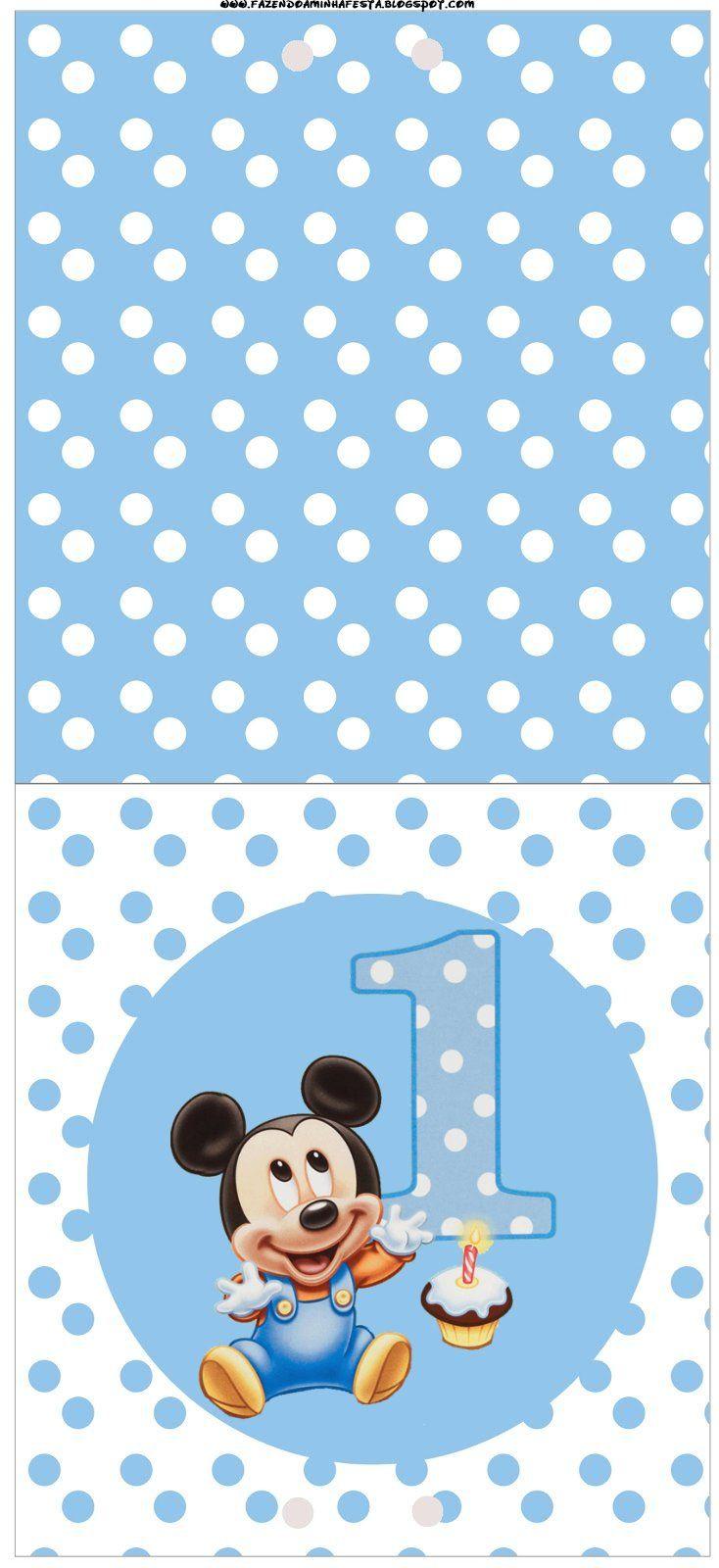 4 Convite Pirulito Mickey Bebe Kit Pinterest More