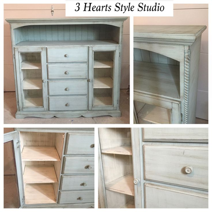 French Provincial Blue Dinning Room Furniture Hutch - Painted Furniture Collection Denver, Colorado