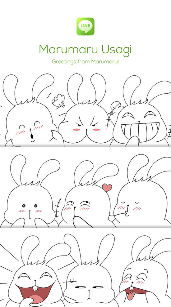 White fat chubby bunny who loved by everyone. http://line.me/S/sticker/1255622