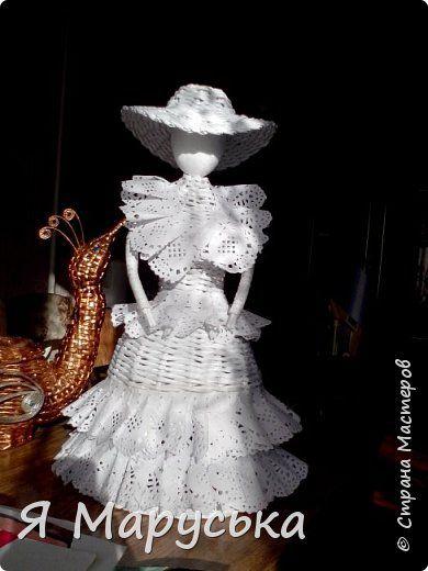 Поделка изделие Плетение Моя куколка Маленький МК Бумага газетная фото 1