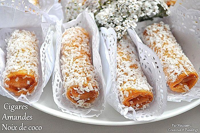 cigares aux amandes et noix de coco