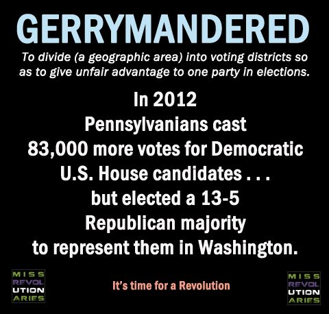 Two recent Supreme Court decisions, in Arizona and Florida, have over-turned the Republican gerrymandered districts, and now they must re-draw them objectively. The Republicans fought this tooth-and-nail, yet it shows there is a path forward to recovering our Democracy.