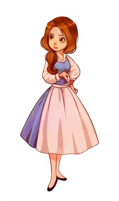 Younger Belle cute!