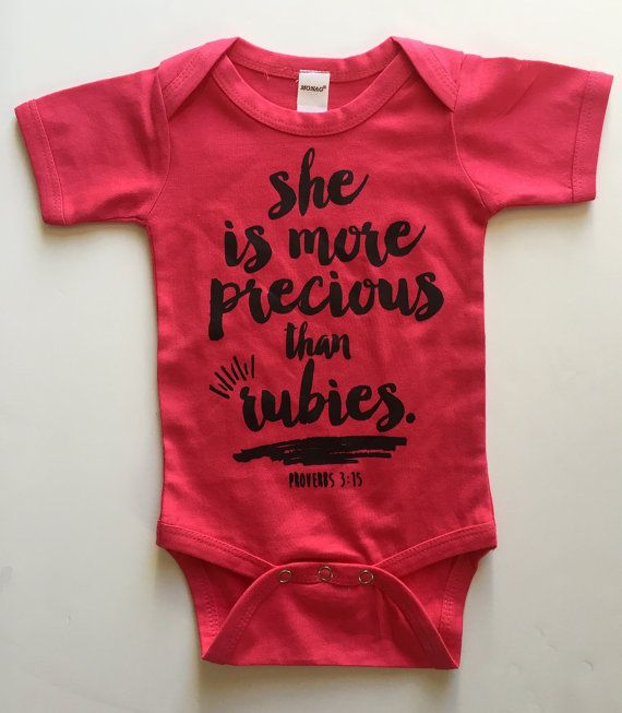 She is more Precious than Rubies Bodysuit  Available by ispotyou