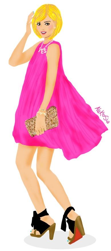 Illustration Design Graphic Cute Girl Fashion