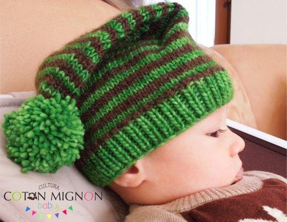 Gorro de Duende Bebé tricot culturacotonmignon