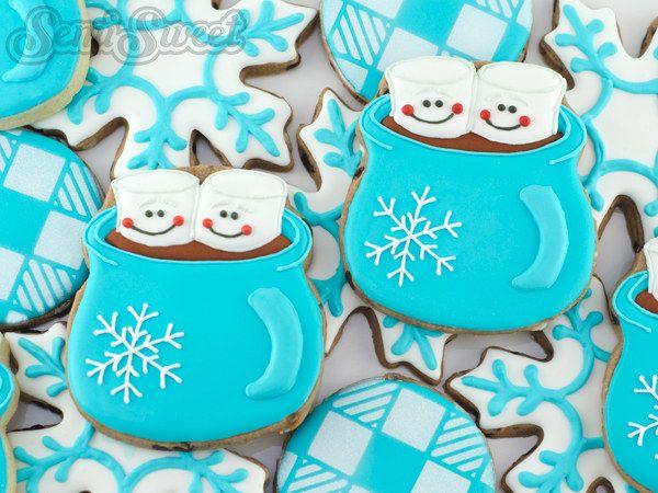 Hot Chocolate Mug Cookies | Community Post: 18 Stunning Christmas Cookies Guaranteed To Impress Your Family