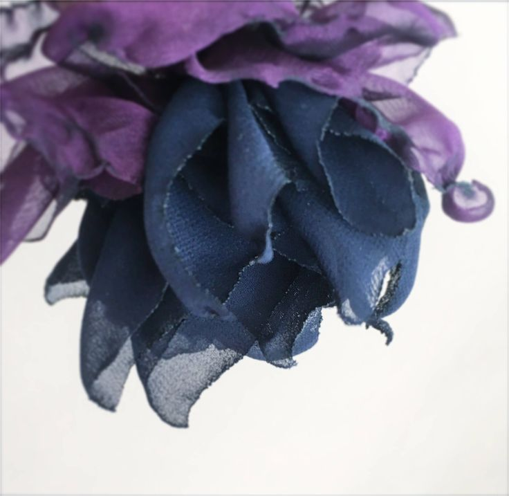 Vintage Romance Brooch Flower for hair -- shabby chic -- blue navy purple violet peony rose flower brooch pin -- Flower hair clip by ShellenD on Etsy