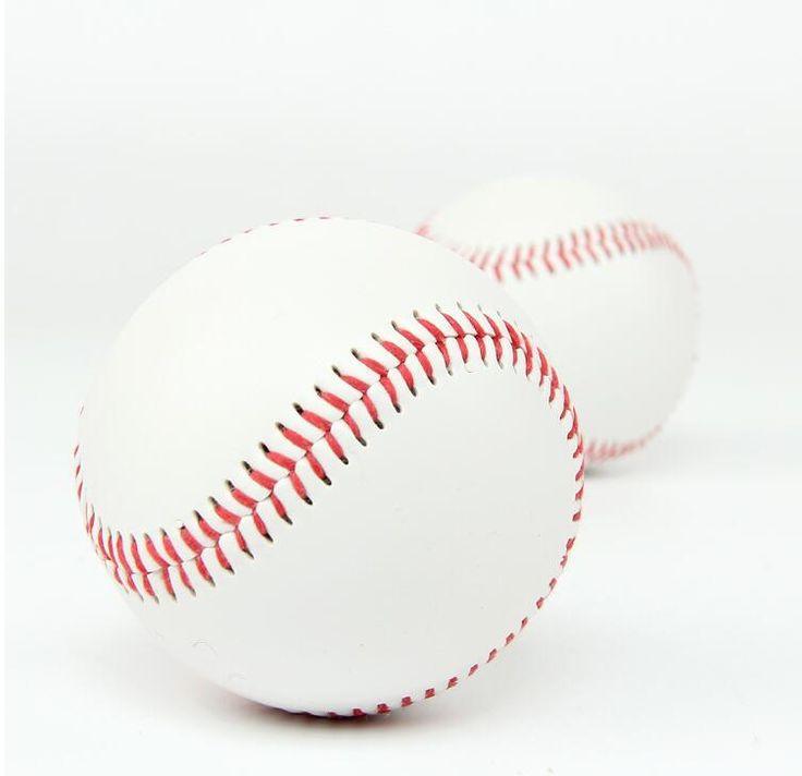 """무료 배송 1 개 2.75 """"새로운 화이트 자료 공 야구 연습 활동 소프트볼 스포츠 팀 게임"""