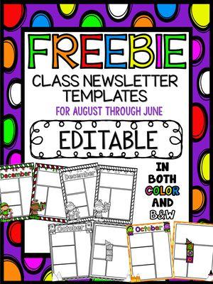 17 Best ideas about Newsletter Templates on Pinterest   Classroom ...