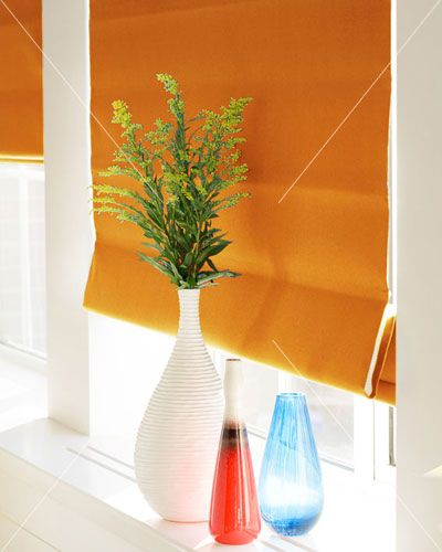Touched by Design Panama Orange Roman Blind direct