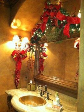 Christmas ~ Tuscan Christmas mediterranean-bathroom