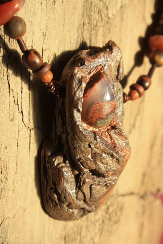 Handmade necklace driftwood and naturals stones. by TribeAll