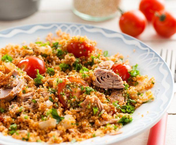 Quinoa met tonijn Lekker!