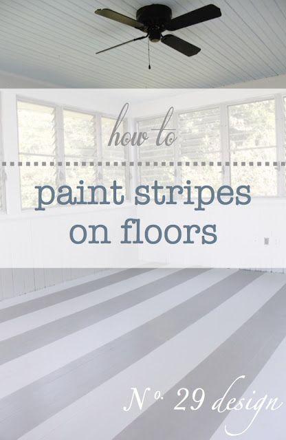 Painting stripes on wood floors...
