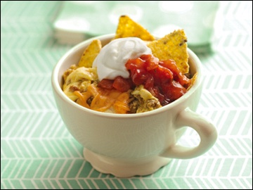 Crunchy Beefy Taco Egg Mug: Mexican-food craving in the morning? Forget Taco Bell's 24-hour drive-thru. Make THIS!